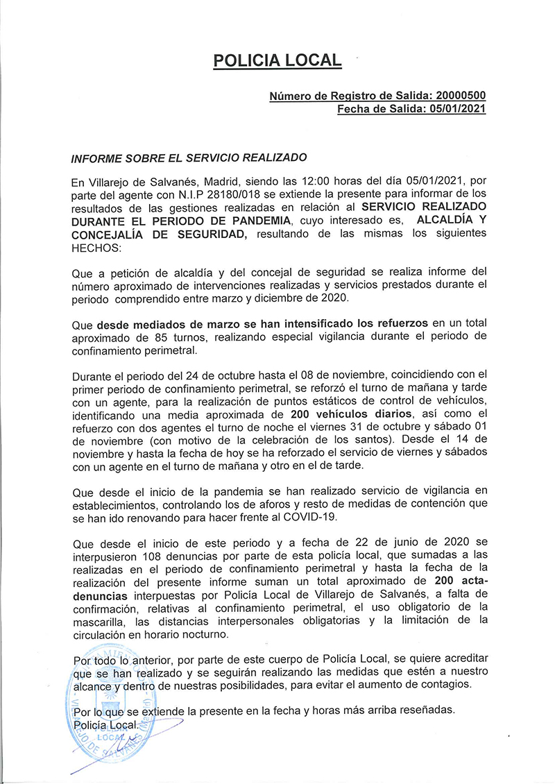 INFORME POLICIAL GENERAL WEB
